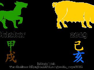 Oktober 2019 - der Monat des Holz-Hundes