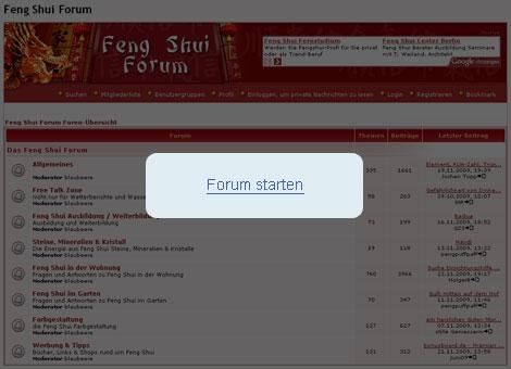 Feng Shui Forum starten